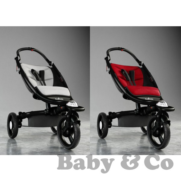 Детская коляска BabyZen ZEN: Silver/Red ice black frame