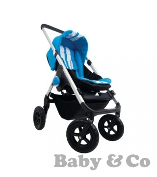 Прогулочная коляска EasyWalker MINI: stropes lazer blue/silver