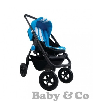 Прогулочная коляска EasyWalker MINI: stropes lazer blue/black