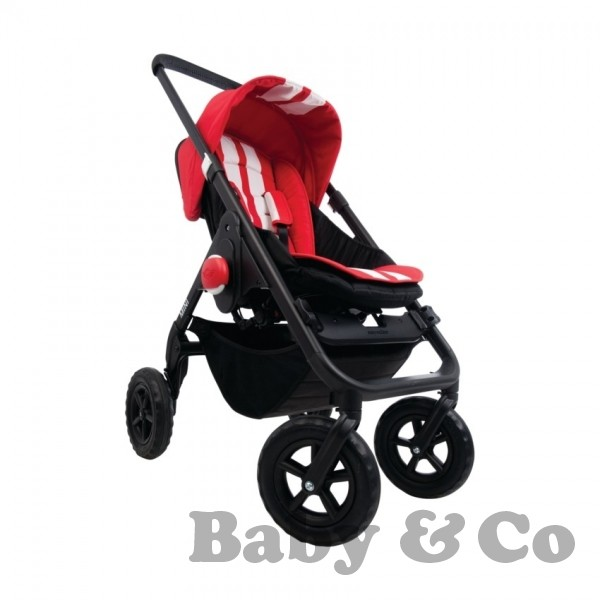 Прогулочная коляска EasyWalker MINI: stripes chili red/black