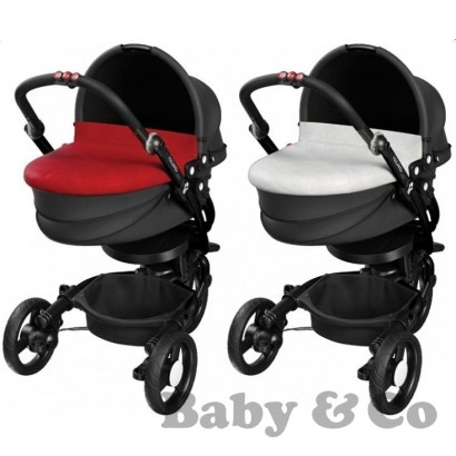 BabyZen + Yoga carrycot red/silver