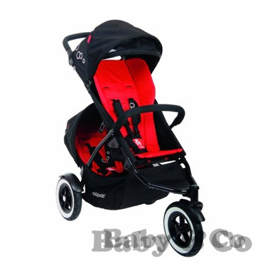 Коляска для погодок и двойни Phil and Teds Dot: Kolyaska Phil and Teds Dot black red