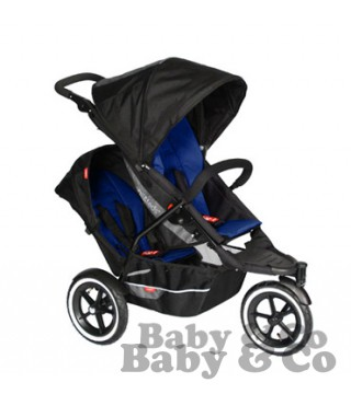 Коляска для погодок и двойни Phil and Teds Explorer: Kolyaska Phil and Teds Explorer black blue