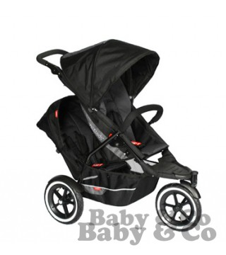 Коляска для погодок и двойни Phil and Teds Explorer: Kolyaska Phil and Teds Explorer black charcoal