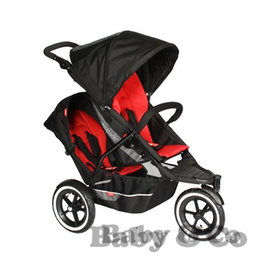 Коляска для погодок и двойни Phil and Teds Explorer: Kolyaska Phil and Teds Explorer black red