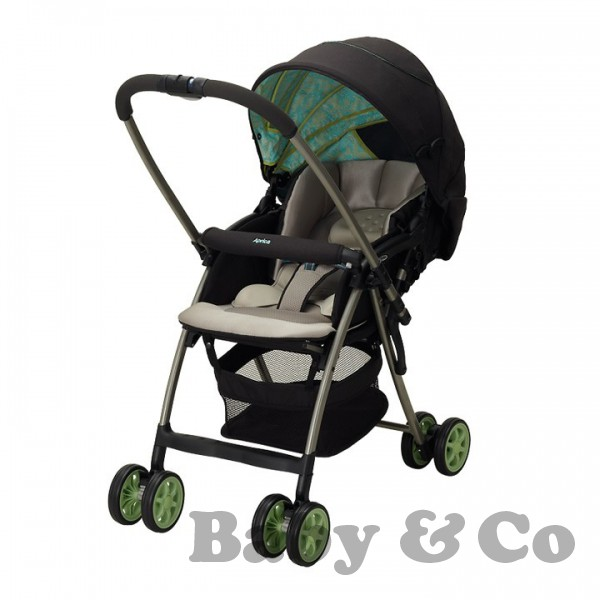 Детская коляска Aprica Karoon Plus: Grey/green